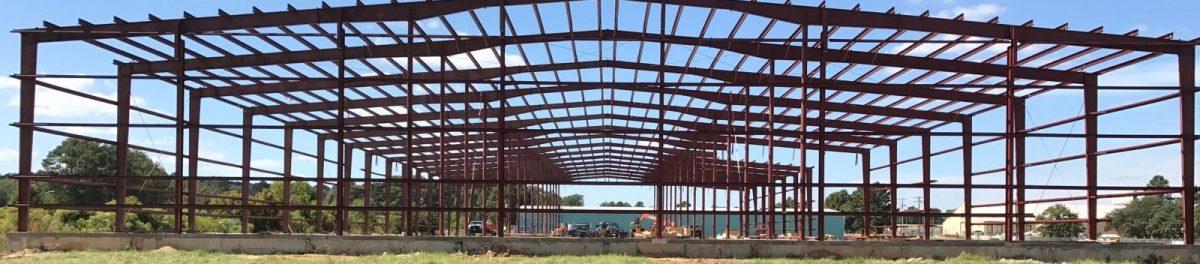 Large building metal scafolding